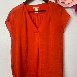 H&M blouse size 4 Red